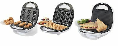 New Salter EK1651 3-in-1 Snack Maker with Sandwich, Waffle and Doughnut Plates