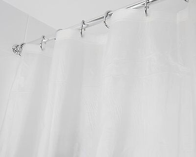 Croydex PVC Frosty Clear Bathroom Toilet Shower Bath Curtain Top Choice 180cm