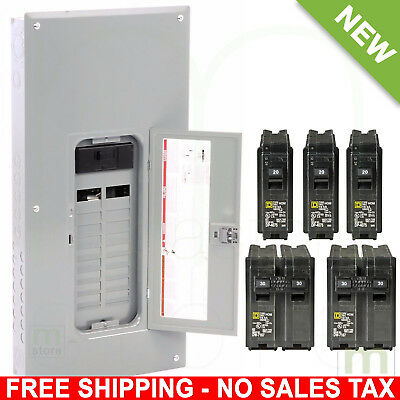 Square D 200 Amp Load Center Main Breaker Panel Electrical 40-Circuit 20-Space