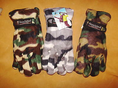 Three Pair**new**insulated Gloves**camo