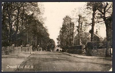 D 750 ....  Crouch End Hill  .  North London .  Real Photo dated 1926