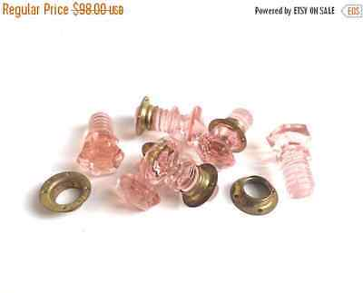 40% OFF Free Shipping Vintage Small Pink Hoosier Hexagon Drawer Pulls E2106