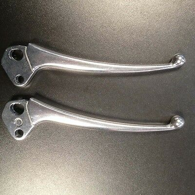 Brake & clutch levers pair in alloy (small ball ends) for Lambretta LI series 3