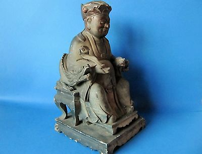 Large Very Fine Antique Early 19th Century Carved Hardwood Buddha