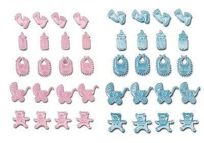 Pack 20 Baby Selection Self Adhesive Christening Baby Shower Craft Decoration