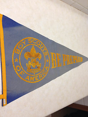 Boy Scouts of America Be Prepared Felt Pennant