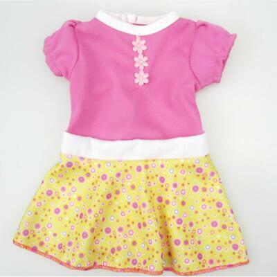 """Puff Sleeve Yellow Skirt Dress for 18"""" American Girl AG Our Generation Dolls"""