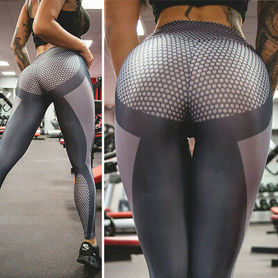 Womens YOGA Gym Sports Leggings stretchy Running Fitness Pants  Workout Trousers