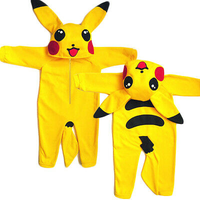 Pokemon Go Newborn Infant Baby Boy Girl Outfit Jumpsuit Rompers Playsuit Cosplay
