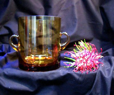 Ice Bucket Amber Glass 1950's Simply Stunning