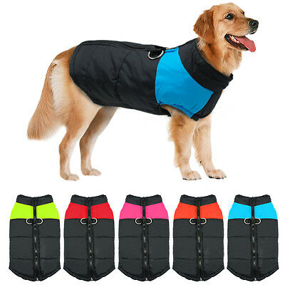 Winter Warm Big Dog Clothes Padded Waterproof Coats Pet Clothing for Large Dogs