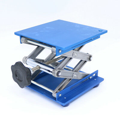 "6"" Aluminum Lab-Lift Lifting Platforms Stand Rack Scissor Lab Jack 150x150x250mm"