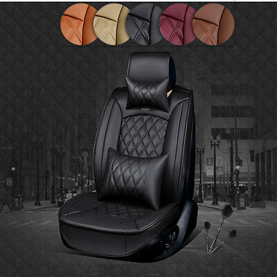 NEW 5 Seat Full PU Leather Winter Car Seat Cushion Cover Luxury Multi-color