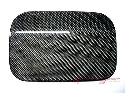 Rare Glossy Real Carbon Fiber Fuel Door Cover For 93-98 Nissan Skyline R33 Jdm