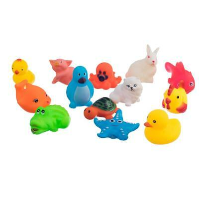 1Set/13pcs Rubber Different Animals Bathing Toy Kids Baby Bath Toys New