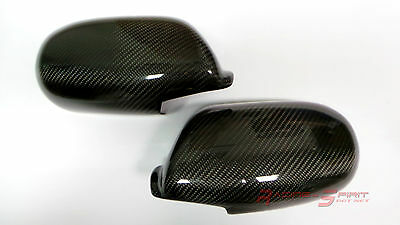 Sport Real 3D Glossy Carbon Fiber Wing Mirror Cover 93-98 Nissan Skyline R33 Jdm