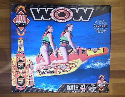 WOW Sports HOT SAUCE 2P Towable Water-ski  Inflatable Tube NEW - SEALED