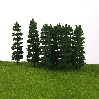 20x Fir Trees HO N Model Train Layout Diorama Mountain Forest Scenery 3.5""