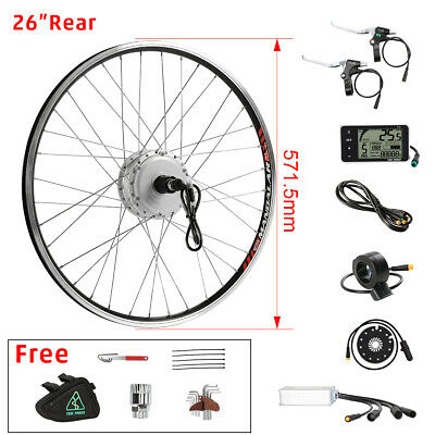 "36v350W 26"" rear motor with Cassette e-bike electric bicycle Conversion kit+LCD"