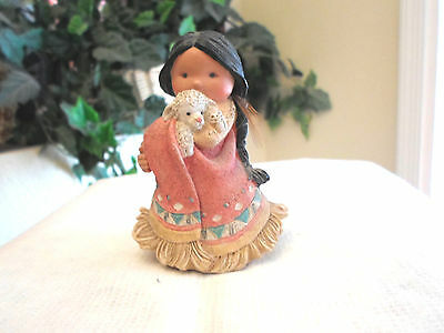 """Friends of the Feather """"She Who Cares A Lot"""" Figurine 1994 Enesco"""