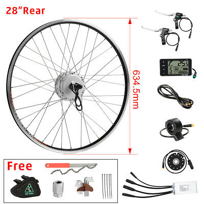 "36v350W 28"" (700c) rear motor with Cassette e-bike Hub Motor Conversion kit"