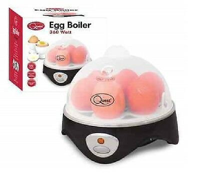 7 Egg Cooker Boiler Steamer Electric Boiled Eggs Maker Breakfast + Free Poacher
