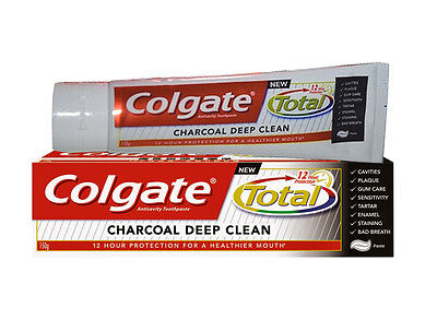 1 x Colgate Total 12 Hour Protection Charcoal Deep Clean Toothpaste (140g/ 5 Oz)