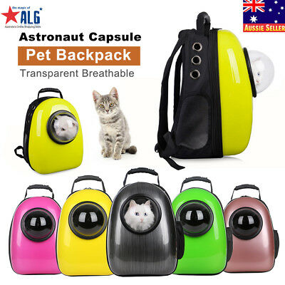 Astronaut Capsule Transparent Breathable Dog Cat Pet Backpack Carrier Travel Bag