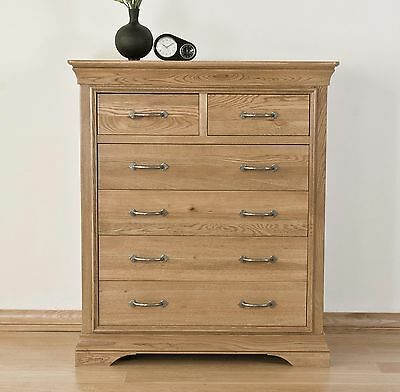 Lourdes solid oak french furniture 2 over 4 bedroom chest of drawers