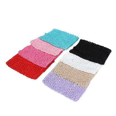 6'' Crochet Tube Top Tutu Elastic Waistband Headband Hair Band For Girls Skirts