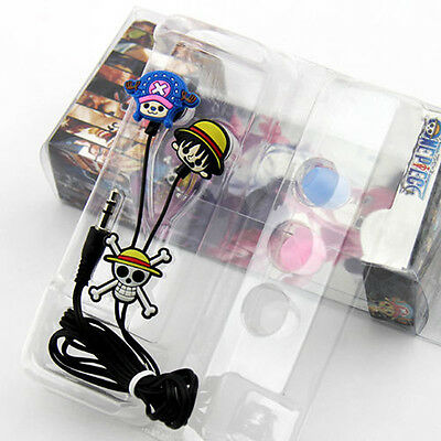 1 Pcs New Japanese Anime one piece Luffy Earphone headset Cosplay Music Gift
