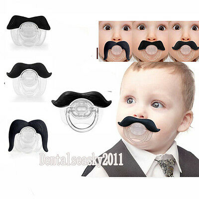 Cute Funny Teeth Beard Mustache Baby Pacifier Orthodontic Dummy Infant Nipples B