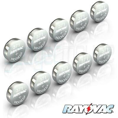 371 RAYOVAC Battery SR920SW Swiss Watch Cell Silver Oxide Hearing Aid 1.55V