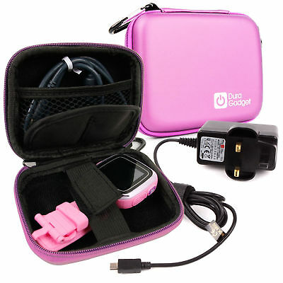 Pink VTech Kidizoom Smartwatch Case + Bonus UK Wall Charger