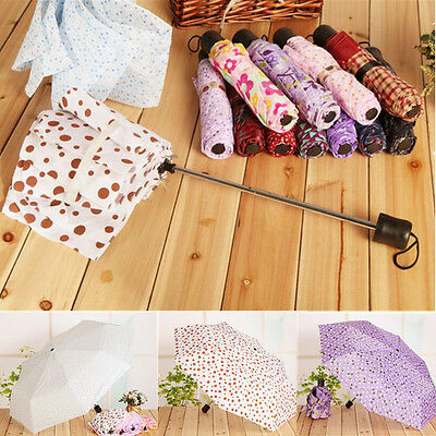 Folding Umbrella Couple Short Handle Portable Mini Umbrella Sun Umbrella