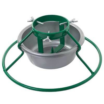"""Euro 5"""" Christmas Tree Stand Green with Grey Bowl - Trees Up To 7ft / 210cm"""
