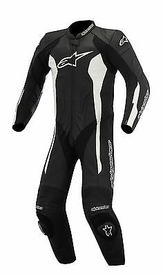 Alpinestars Challenger 1pc Leather Motorcycle Suit Bk/Wh ***Now Only £399.99***