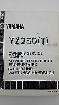 Yamaha Motorbike YZ250(T) Factory Owners Service Manual. 1st ed., August 1986
