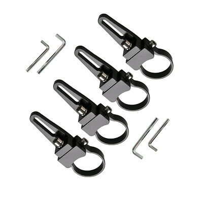 "4X 1.75"" 44mm Bull Bar Roll Cage Mount Bracket LED Work Light Bar Clamp Offroad"