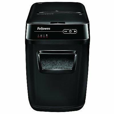 Fellowes Automax 130c 130-sheet Cross-cut Auto Feed Shredder, For Hands-free Sh