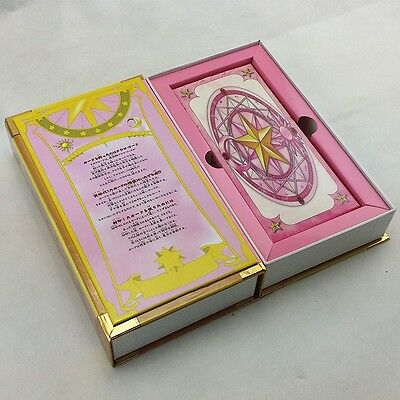 Anime Card Captor Sakura 56 Piece Clow Cards Set w Pink Clow Magic Book New