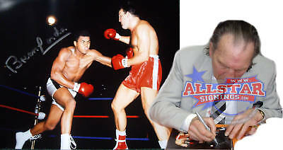 """BRIAN LONDON SIGNED 10""""x8"""" BOXING PHOTOGRAPH v MUHAMMAD ALI SEE PROOF"""