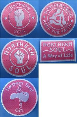 Northern Soul Patch - 5 Patch Set - 5 Pink Soul Girl Patches - Set 7