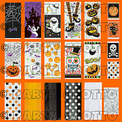 Halloween Cello Cellophane Bags Trick Or Treat Party Sweets Gift Loot Bag