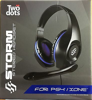 Headset Cuffie Microfono Stereo Ps4 Playstation 4 Xbox One Nuovo