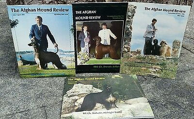 Afghan Hound Review Magazine, 1985, 4 Issues