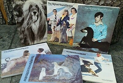 Afghan Hound Review Magazine, 1976, Complete Year, 6 Issues