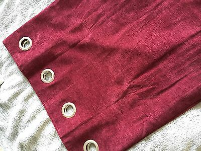 Curtains Ideas burgundy eyelet curtains : Next Velvet Burgundy Red Eyelet Curtains 135cm X 137cm • £19.99 ...