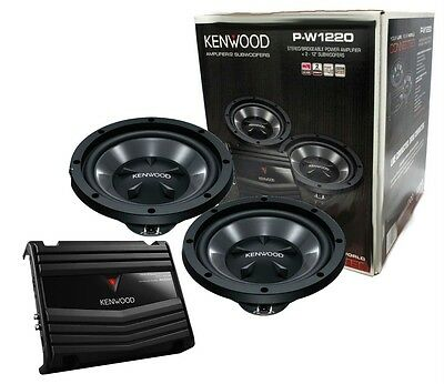 Kenwood P-W1220 Amplifier KAC-5206 Subwoofer KFC-W112S Bass Package New PW1220