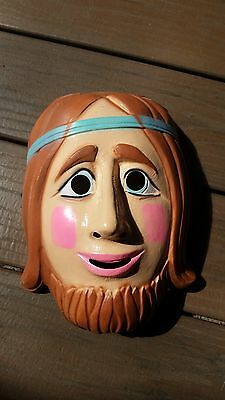 Vintage Plastic Mask of a Hippy